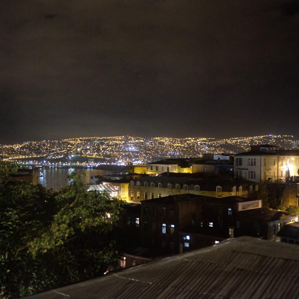 Vista nocturna desde mi habitación.